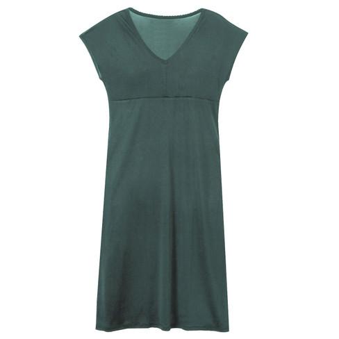 Zijden nachtjapon uit Organic Silk, smaragd 44/46