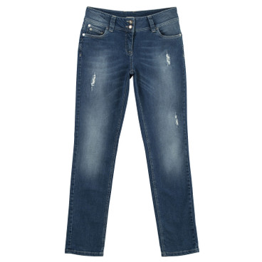 Smalle bio-jeans, light blue