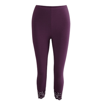 3/4-leggings, aubergine