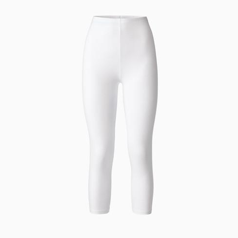 3/4-leggings uit bio katoen, Wit 46