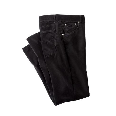 Ribbroek met stretchcomfort, zwart 32/L34