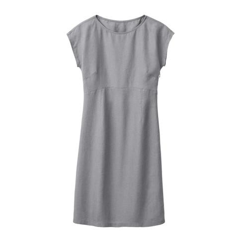 Linnen jurk, zilvergrijs 42