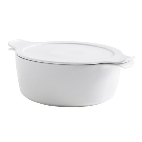 Porseleinen pan, Wit Ø 24 x H 12,5 cm, 4,0l, 2,2kg