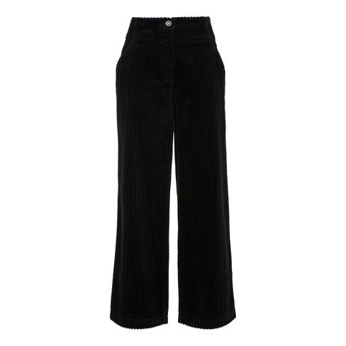 Ribcord broek, zwart 40