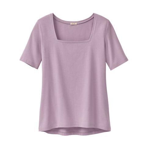 Carr�-shirt van bio-katoen, hortensia 48