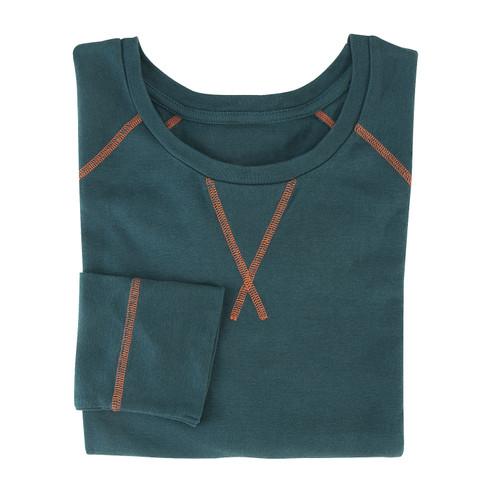 Shirt met lange mouwen uit bio-katoen, oceaan XXL