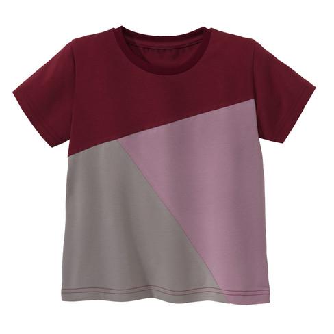 Jersey shirt met korte mouw, bes/hortensia 110/116