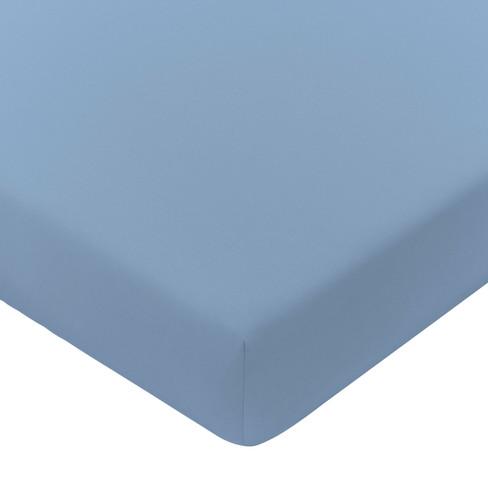 Satijnen hoeslaken, ijsblauw 100 x 200 cm