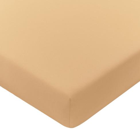 Satijnen hoeslaken, goud 90 x 200 cm