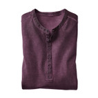 Shirt 1/1-mouw cold dyed, cassis