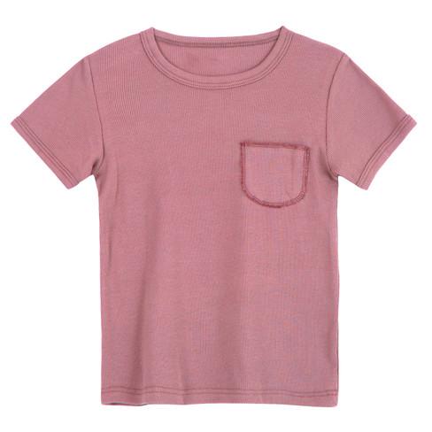 Shirt met korte mouwen, roze 122/128