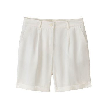 Bandplooishort van TENCEL™, naturel