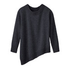 Pullover 1/1-mouw asymm., antra