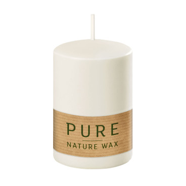 PURE kaarsen, 4-dlg. set, naturel