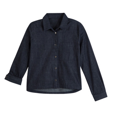 Jeansblouse, casual blue