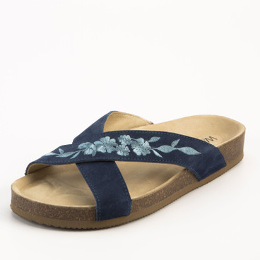 Slipper, indigo