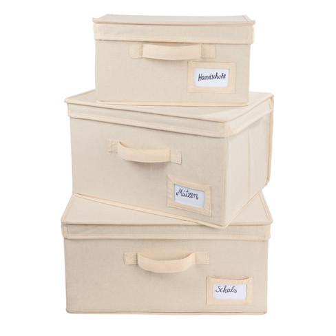 Opbergboxen van biologisch katoen 30 × 20 × 15 cm