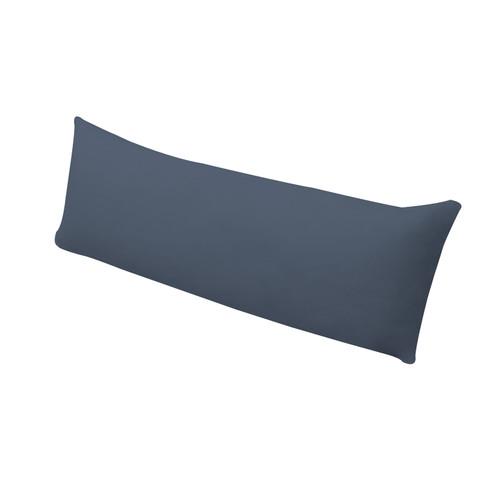 Bio-jersey kussensloop voor zijslaperkussen, kwarts 40 x 130 cm