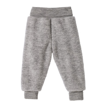 Wollen fleece babybroek, grijs