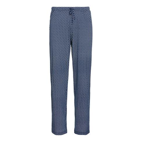 Pyjamabroek, indigo-motief L
