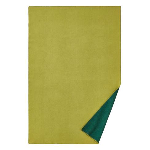 Omkeerbare deken van scheerwol, groen 140 x 220 cm