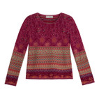 Jacquard pullover, bes-motief