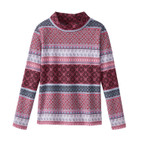 Jacquard-pullover, bes-motief