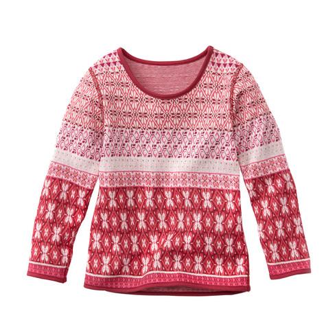 Gebreide pullover, mauve-motief 86/92