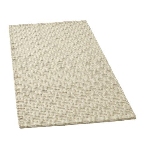 Scheerwollen tapijt, natuurwit 70 x 140 cm