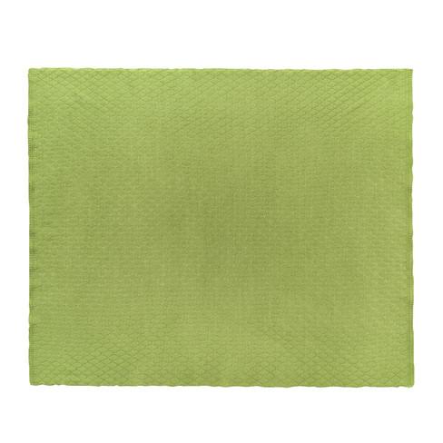Babydeken van scheerwol, groen 70 x 90 cm