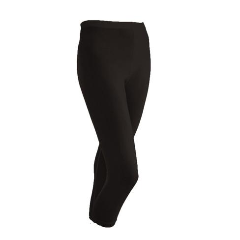 Zijden 3/4-legging uit Organic Silk, zwart 44