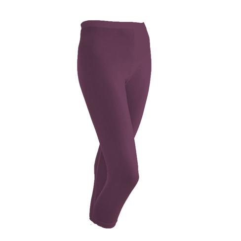Zijden 3/4-legging uit Organic Silk, pruim 42