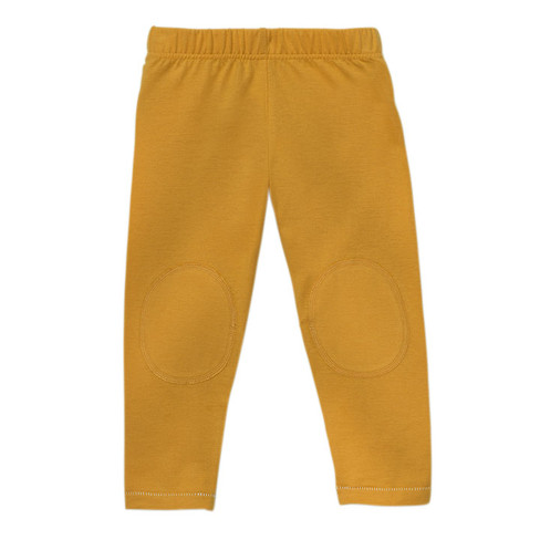 Legging van bio-katoen, geel 122/128