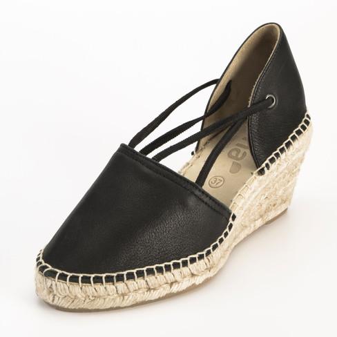 Bio-sandaal met sleehak, zwart 38