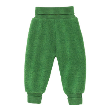 Wollen fleece babybroek, groen