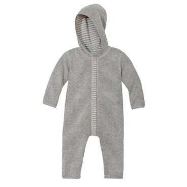 Omkeerbare fleece baby-overall, grijs/naturel