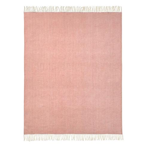Scheerwollen deken, rose-melange 140 � 200 cm