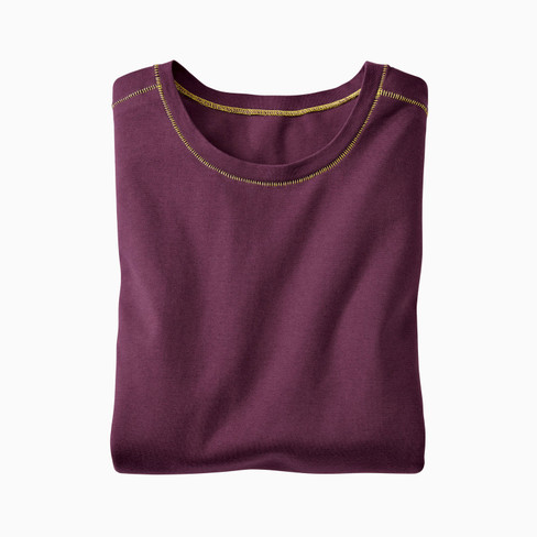 Shirt met lange mouwen, plum M