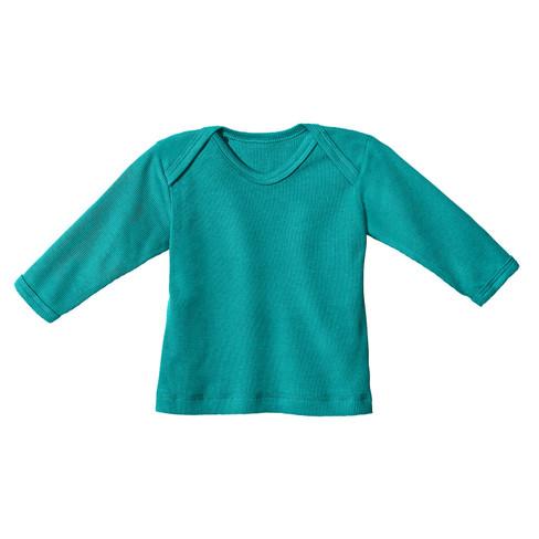 Baby-ribshirt met lange mouwen, smaragd 62/68