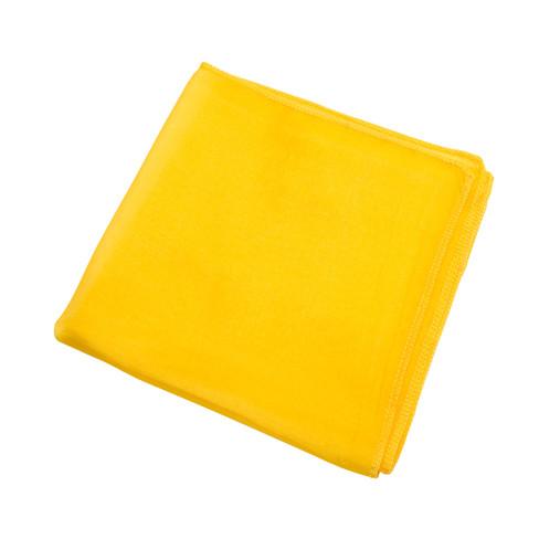 Doek van biologische zijde, geel l 87 x b 87 cm