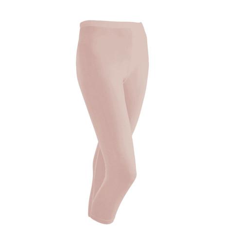 Zijden 3/4-legging uit Organic Silk, poeder 46