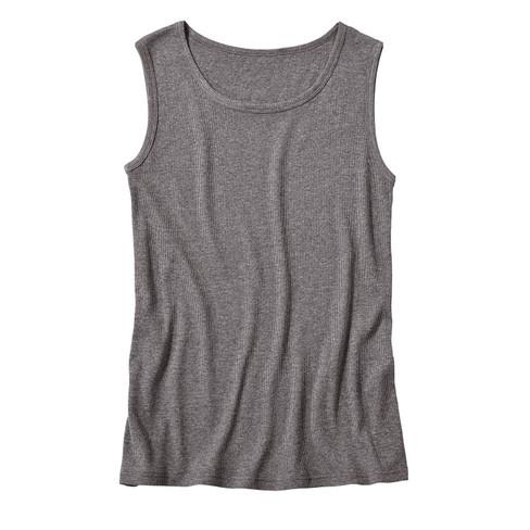 T-shirt zonder mouwen, antraciet-gem�leerd S