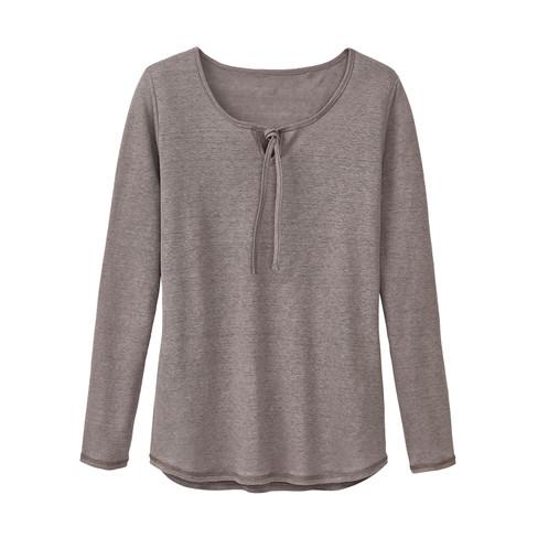 Linnen shirt, taupe 38