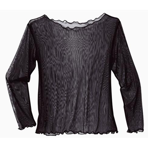 Zijden shirt, zwart 36/38