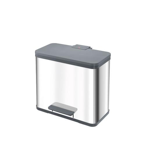 Pedaal-ecobox met 3 emmers