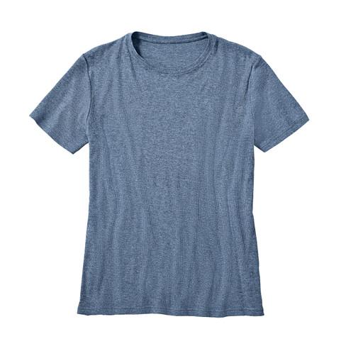 Kumpf Shirt met korte mouwen, jeansblauw-gemêleerd | Waschbär from Waschbär
