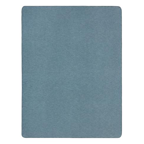 Katoen/scheerwollen deken, blauw 140 � 200 cm