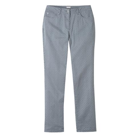 Bedrukte broek 5-pocket, grijs-motief 46