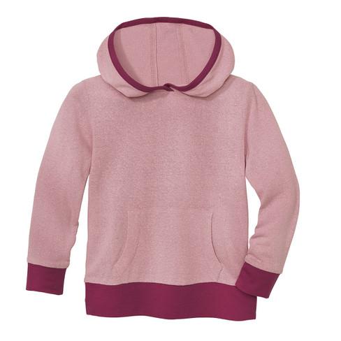 Shirt met capuchon van bourrette zijde, roze 134/140