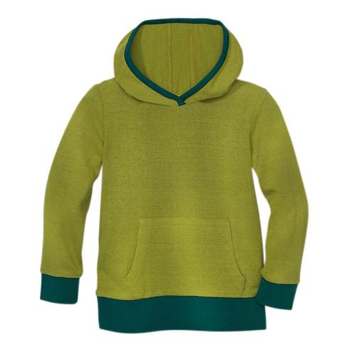 Shirt met capuchon van bourrette zijde, bamboe 110/116